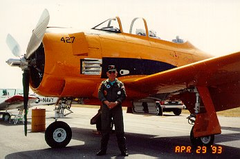 Frank Sigona and his T-28B